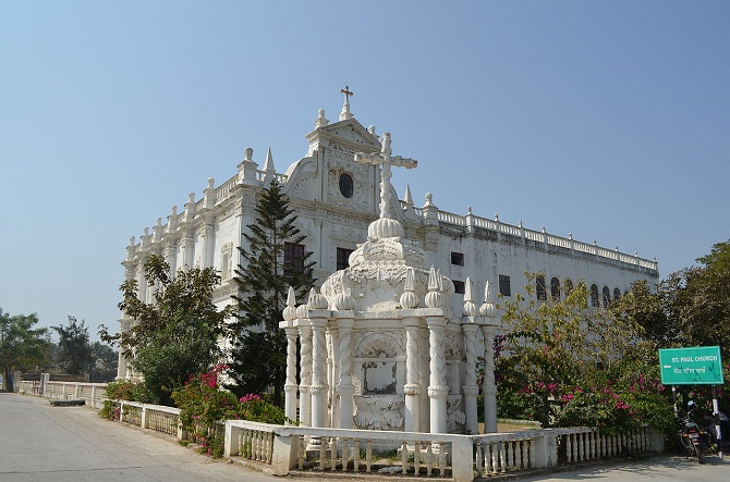 9 St.paul's church, biggest in diu