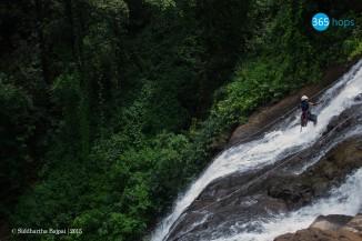 Vihi Waterfall Rappelling