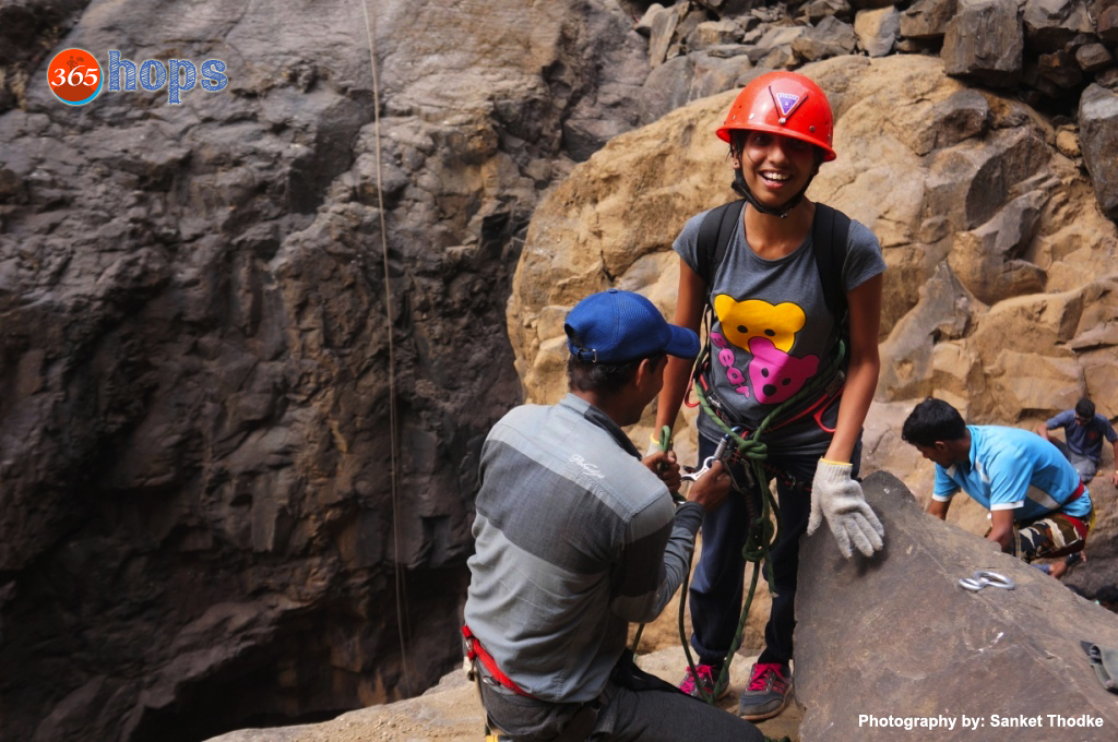 rappelling at Sandhan Valley