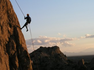 Rappelling At Duke Nose