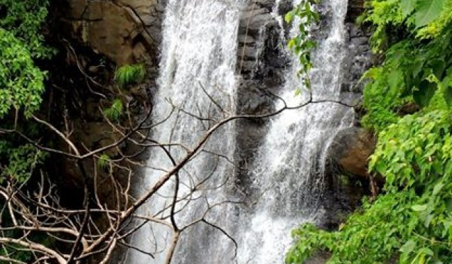 Waterfall rappelling at Bhekare