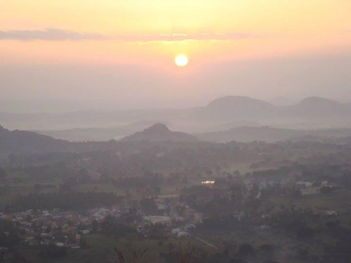 sun rise  at Narayangiri