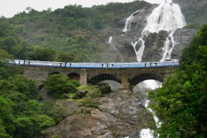 Dudhsagar Waterfalls Because As long as I live I want to hear Waterfalls, Birds and Winds Sing