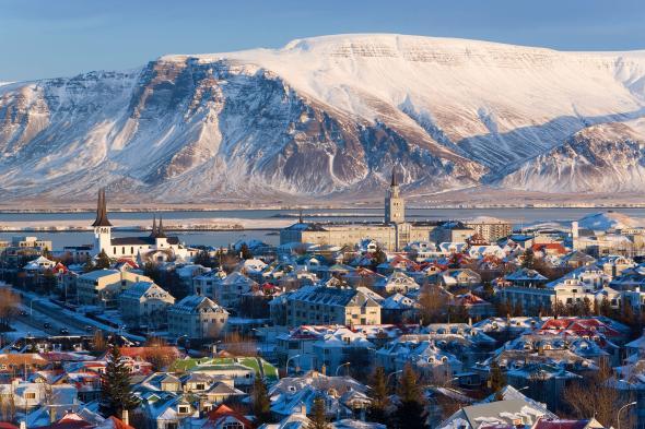 Reykjavík, Iceland in winter