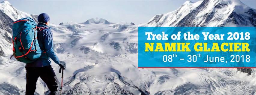 Trek of the year Namik Glacier Trek 2018