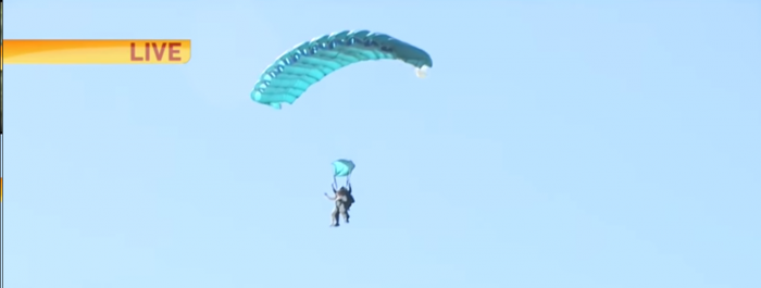 Wally still skydiving at 97 years old