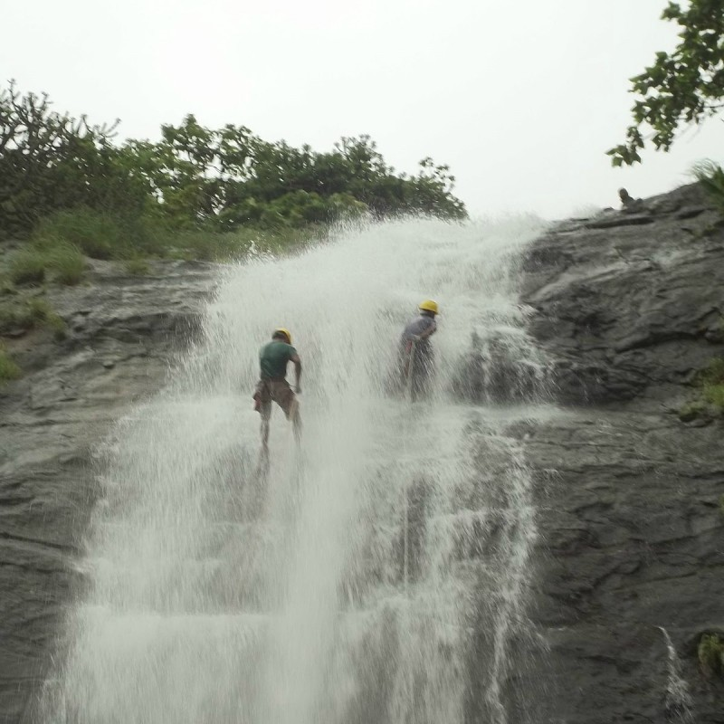 Waterfall Rappelling At Dudhiware lonaval