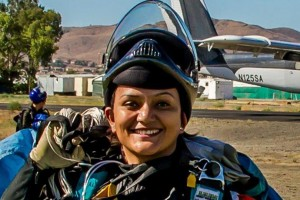 Indian Woman Skydive 5000 Feet; Flags The Tricolour In The Finland Sky