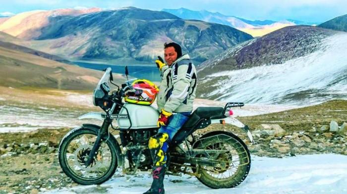 Pruthu Mehta enroute Ladakh