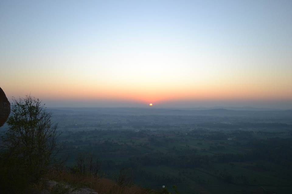 sunrise at kunti betta