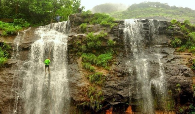 Waterfall Rappelling At Dodhani
