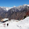 Auli skiing in winter