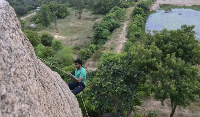 Rappelling in Ramanagara